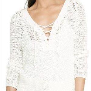 Ralph Lauren Lace Up Knit Top